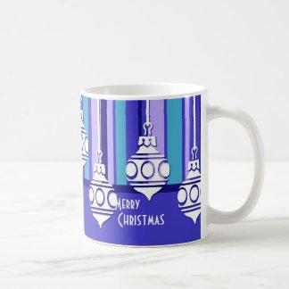 Blue White Decorations Merry Christmas Mug