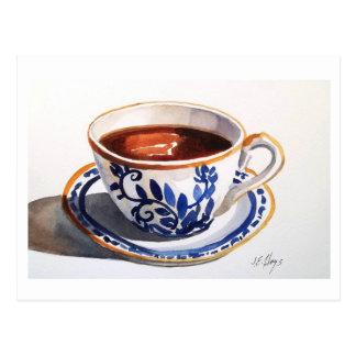 Blue & White Delft Teacup Postcard
