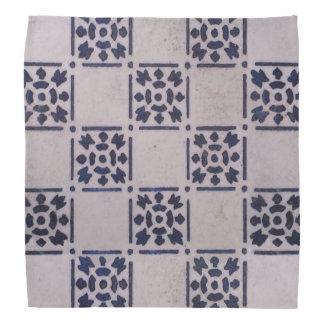 Blue White Delft Tile Art Print Pattern Bandana