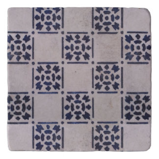 Blue White Delft Tile Art Print Pattern Trivet