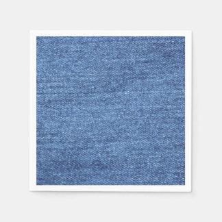 Blue White Denim Look Texture Paper Napkins