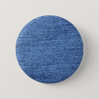 Blue White Denim Texture Look Image 2 Inch Round Button