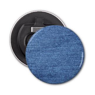 Blue White Denim Texture Look Image Bottle Opener