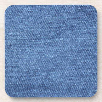 Blue White Denim Texture Look Image Coaster