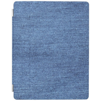 Blue White Denim Texture Look Image iPad Cover