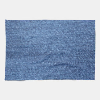 Blue White Denim Texture Look Image Kitchen Towel
