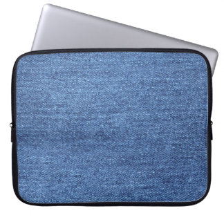 Blue White Denim Texture Look Image Laptop Sleeve