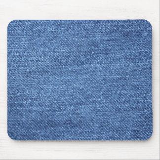 Blue White Denim Texture Look Image Mouse Pad