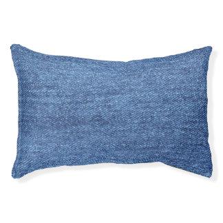 Blue White Denim Texture Look Image Pet Bed
