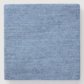 Blue White Denim Texture Look Image Stone Coaster