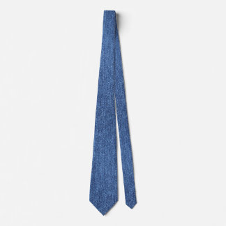 Blue White Denim Texture Look Image Tie