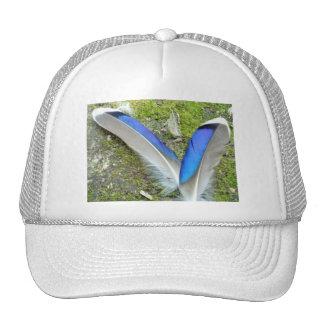 Blue White Duck Feathers, Animal, Bird Trucker Hat