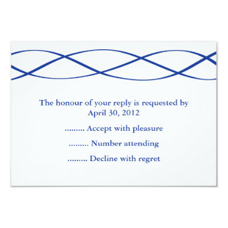 Blue & White Event Reply, RSVP or Response Cards