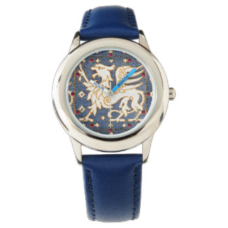 BLUE WHITE FANTASY GRIPHONS WATCH
