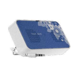 Blue - White Flourishes iPod Speakers