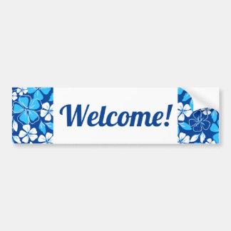 Blue & white flowers bumper sticker