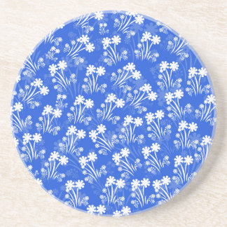 Blue White Flowers Coasters
