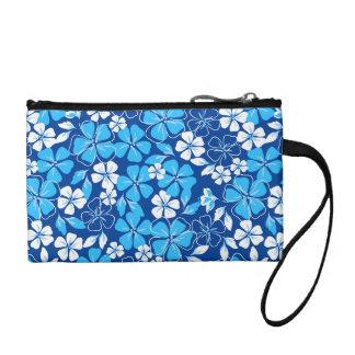Blue & white flowers coin purse