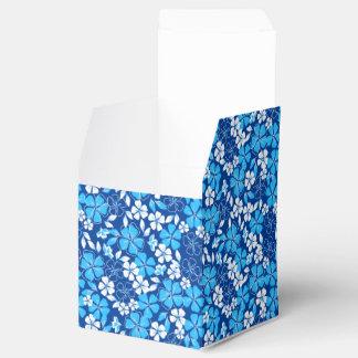 Blue & white flowers favor box