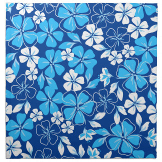 Blue & white flowers napkin