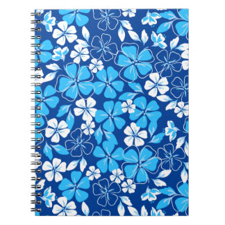 Blue & white flowers notebook