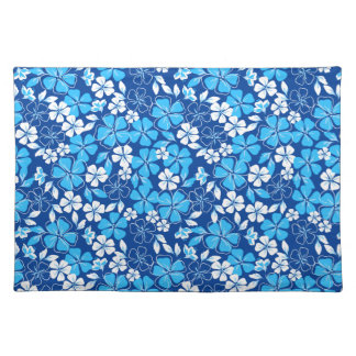 Blue & white flowers placemat