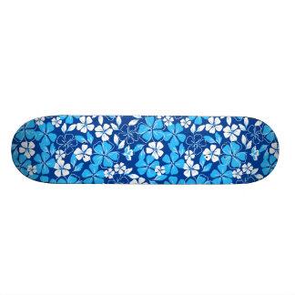 Blue & white flowers skate decks