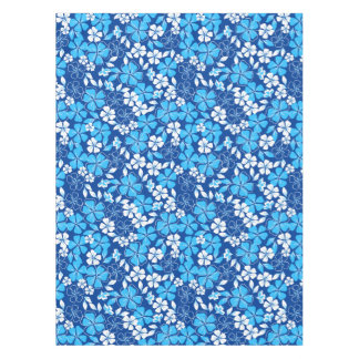Blue & white flowers tablecloth
