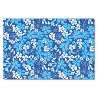 Blue & white flowers tissue paper