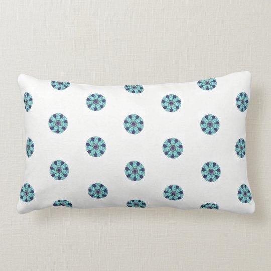 Blue White Geometric Star Design Lumbar Pillow