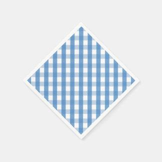 Blue white gingham napkins paper napkins