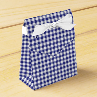 Blue-White Ginham-PARTY FAVOR BOX, tent Favor Box