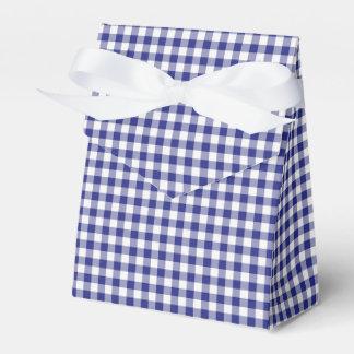 Blue-White Ginham-PARTY FAVOR BOX, tent Party Favor Box