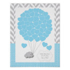 Blue, White Grey Elephant Baby Shower 2 - Guest Poster