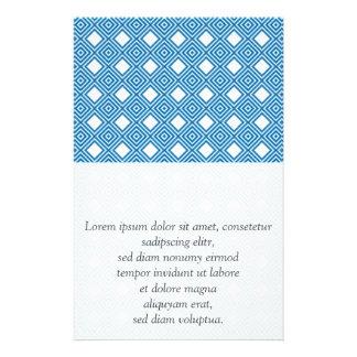 Blue, white, grey flyers