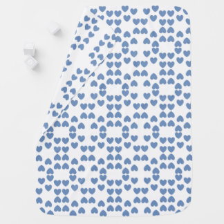 Blue & White Hearts Baby Blanket