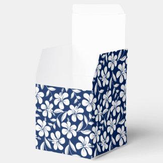 Blue & white hibiscus favor box
