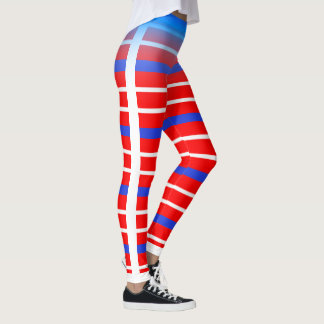 Blue/White Horizontal Stripe Choose Your Own Color Leggings