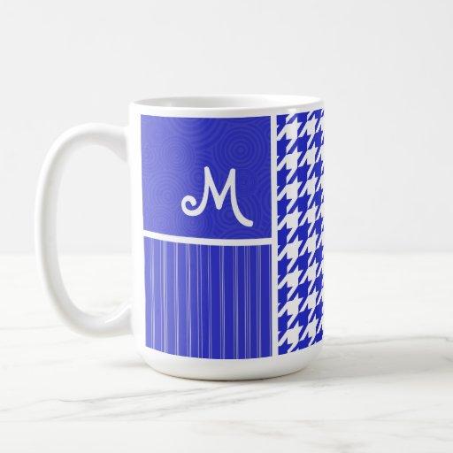 Blue & White Houndstooth Mug