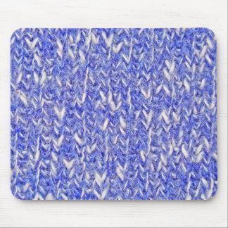Blue White Knitting - Mousepad