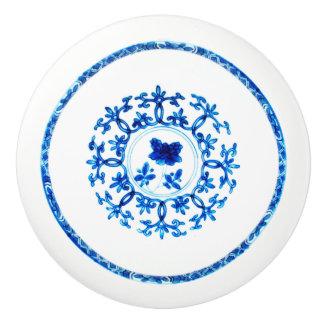 Blue White Knob