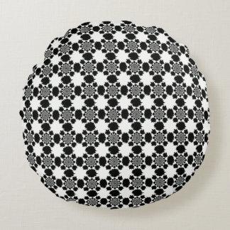 Blue White Motif Round Pillow
