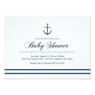 Blue & White Nautical Baby Shower Invite