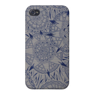 Blue & White Pattern Iphone 4 Case