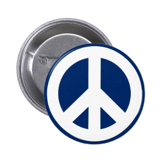 Blue & White Peace 2 Inch Round Button