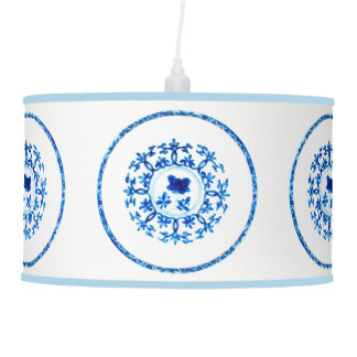 Blue White Pendant Lamp