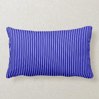 Blue White Pinstripe Lumbar Pillow