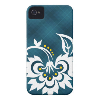 Blue white plaid flower design iPhone case