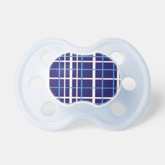 Blue White Plaid Pacifier For Boys