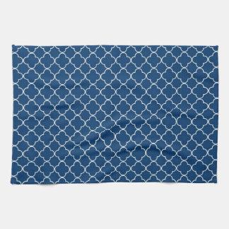 Blue White Quatrefoil Kitchen Cloth Towel